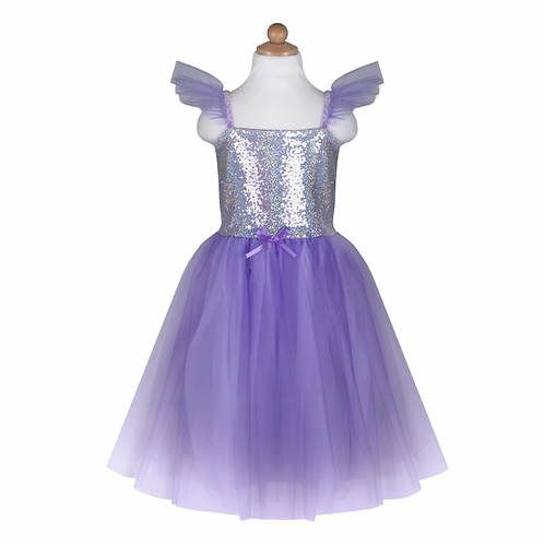 Robe Sequin Lilas  7/8 ans - GREAT PRETENDERS