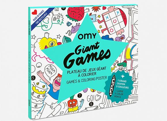 Plateau de jeu géant à colorier - OMY