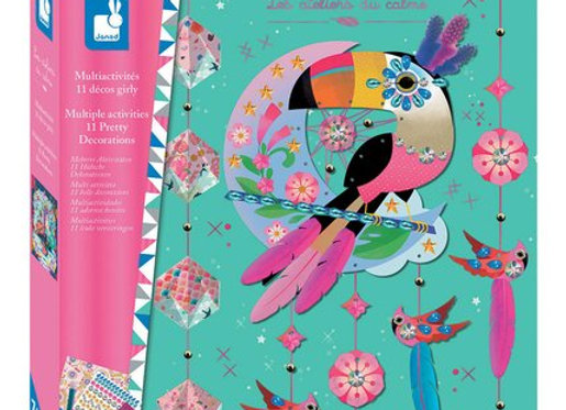 Kit créatif - Coffret Multi-Activités 11 Décos Girly Hachette - JANOD