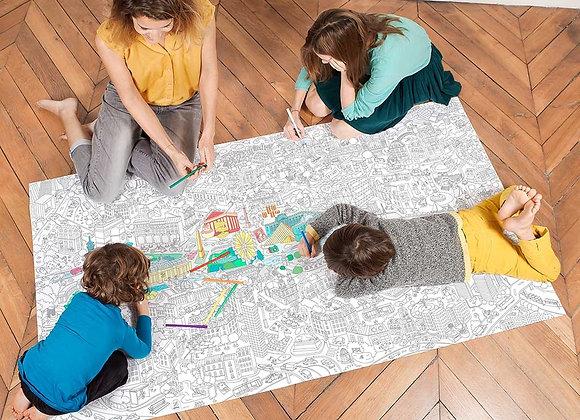 Paris Coloriage XXL 180 x 100 cm - OMY
