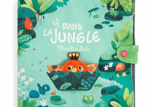 Grand livre tissu d'activités Dans la jungle - MOULIN ROTY