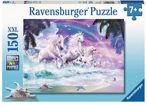 Puzzle XXL 150 pièces Licornes sur la plage - RAVENSBURGER