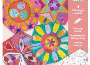 4 coloriages surprise Mandalas constellations - DJECO