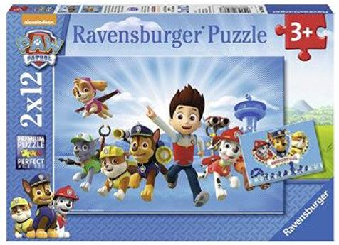 Puzzle 2 x 12 pièces PatPatrouille - RAVENSBURGER