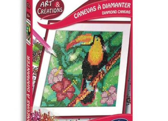 Arts et créations Canevas à diamanter Toucan - SENTOSPHERE