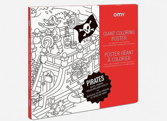 Poster à colorier Pirates grand format - OMY