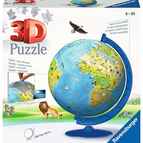 Puzzle 3D 180 pièces Globe  - RAVENSBURGER