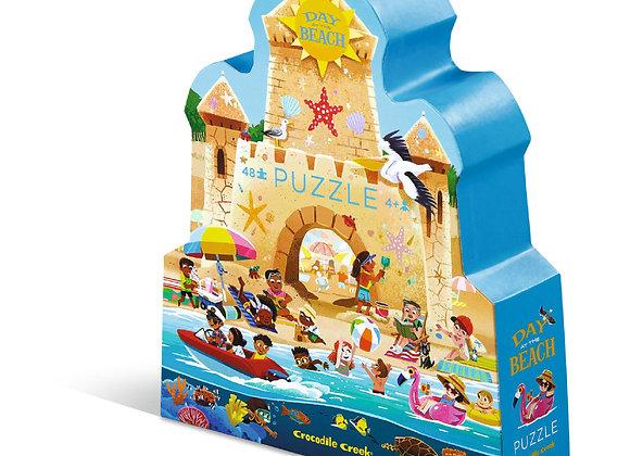 Puzzle 48 pièces Une journée à la plage - CROCODILE CREEK