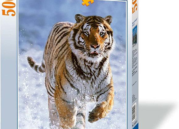 Puzzle Tigre dans la neige 500 pièces - RAVENSBURGER
