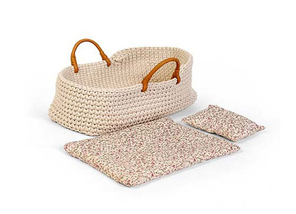 Couffin en tricot pour poupon Astrup - MINIKANE