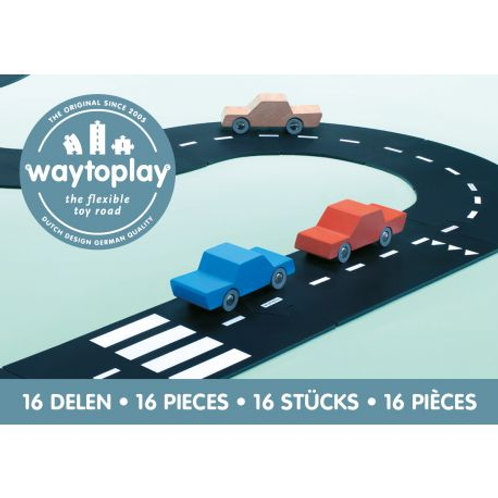 Circuit de voiture flexible 16 pièces - WAY TO PLAY