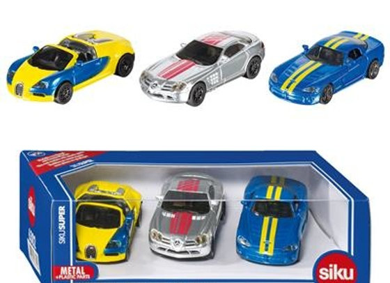 Coffret de 3 voitures de sport - SIKU