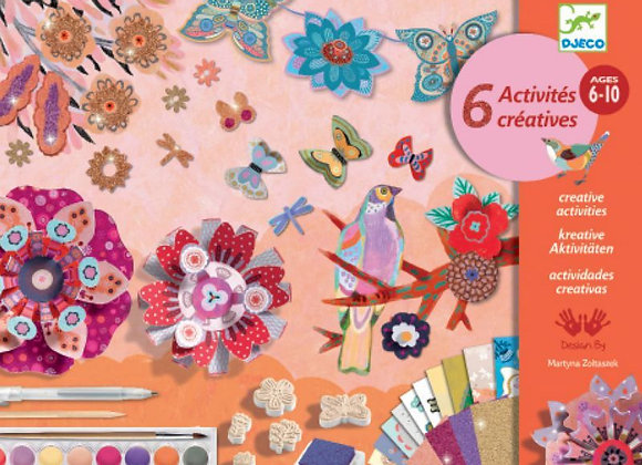 Coffret 6 activités créatives Fleur Flower Box - DJECO