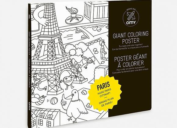 Poster géant à colorier Paris - OMY