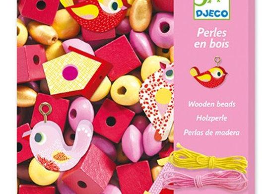 Perles en bois Oiseaux - DJECO DESIGN