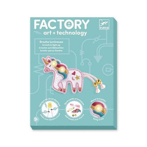 Broche lumineuse Licorne - FACTORY ART+ TECHNOLOGY