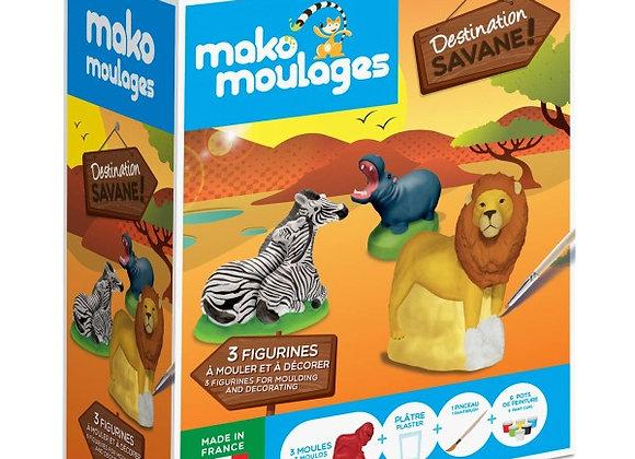 Coffret Destination Savane 3 moules - MAKO MOULAGES