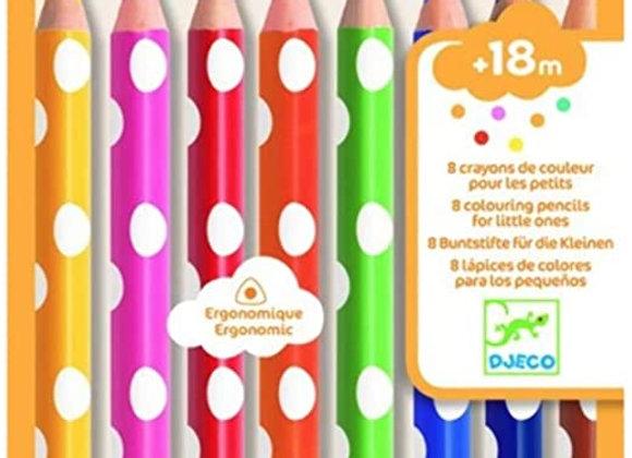 8 crayons de couleur pour les petits - DJECO