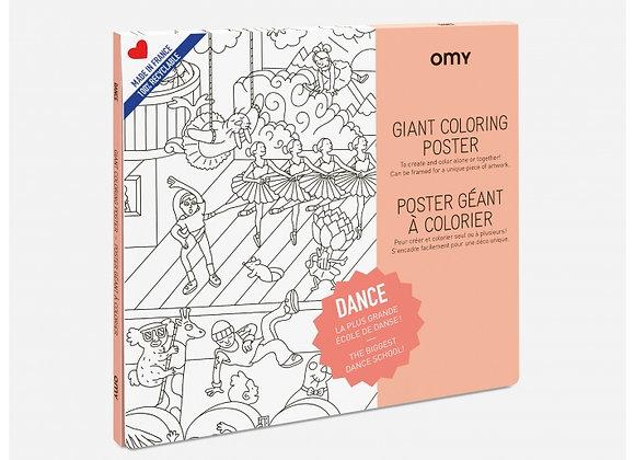 Poster à colorier Danse grand format - OMY