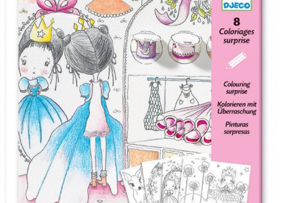 8 coloriages surprise Les petites portes de Pupi - DJECO