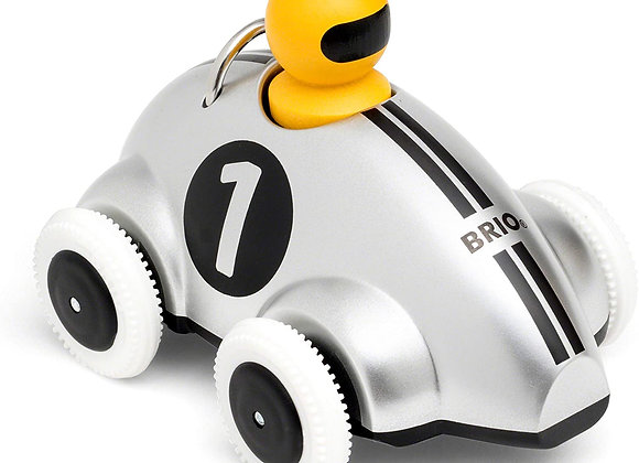 Voiture de course Push and Go grise édition limitée - BRIO