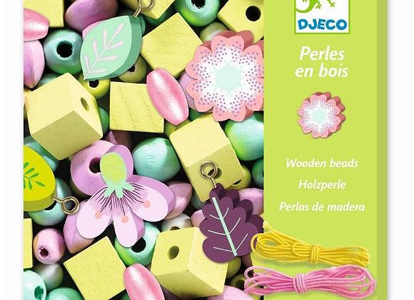 Perles en bois Feuilles et Fleurs - DJECO DESIGN