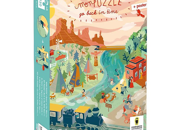 """Puzzle 150 pièces """"Go Back in Time"""", Far West - PIROUETTE CACAHUETE"""