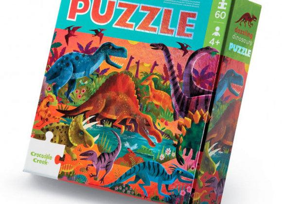 Puzzle 60 pièces Dinosaures - CROCODILE CREEK