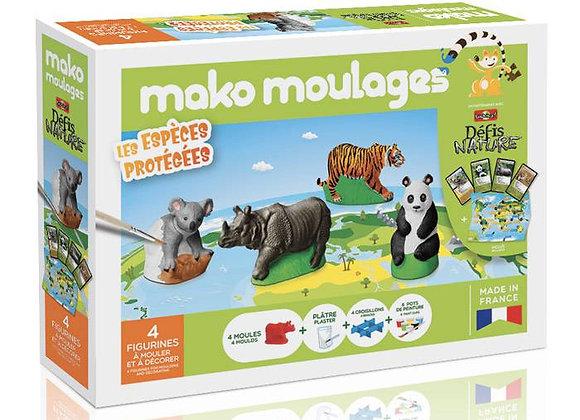 Coffret Les espèces protégées 4 figurines - MAKO MOULAGES