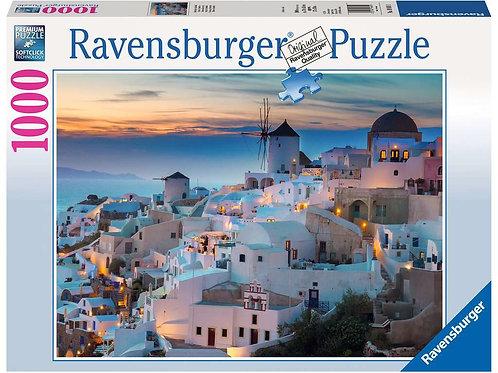 Puzzle 1000 pièces Soirée à Santorin - RAVENSBURGER