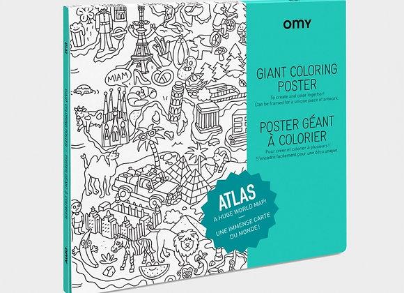 Poster géant à colorier Atlas - OMY