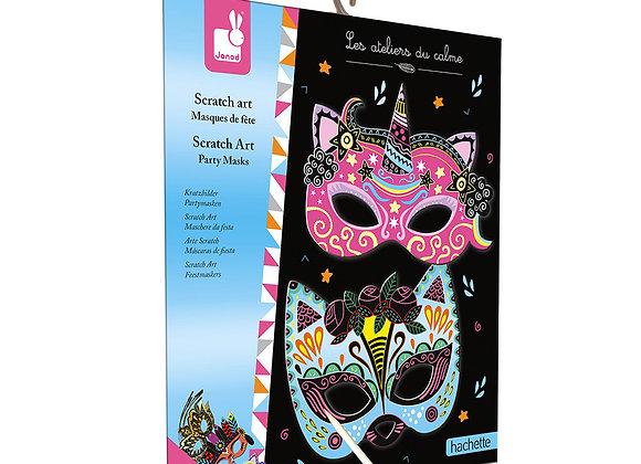 Kit Créatif Scratch Art Masques de fée Les Ateliers du Calme - JANOD (HACHETTE)