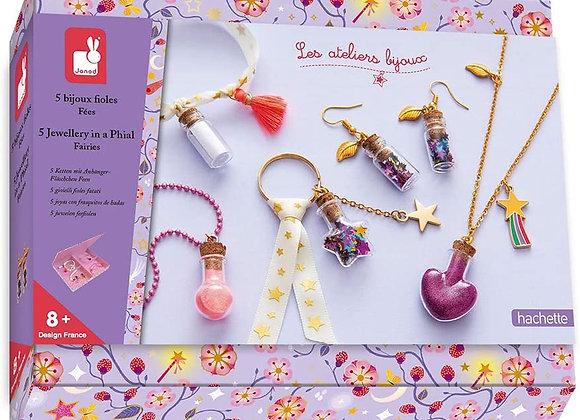 5 bijoux fioles Fées - JANOD