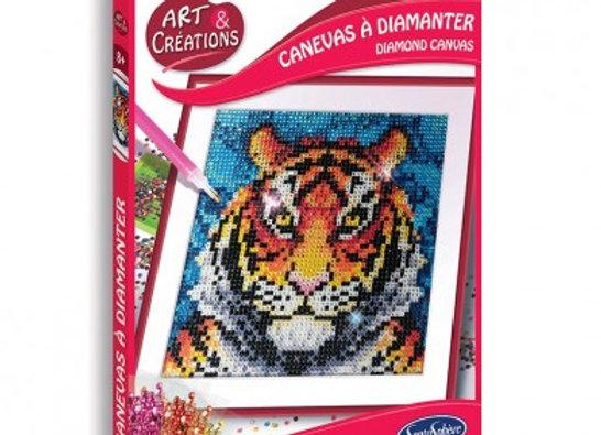 Arts et créations Canevas à diamanter Tigre - SENTOSPHERE