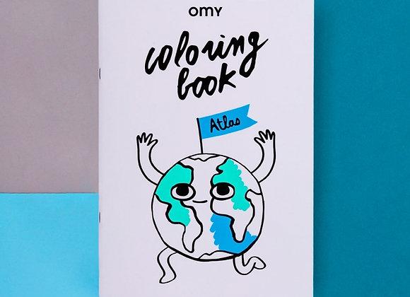 Cahier de coloriage Atlas - OMY