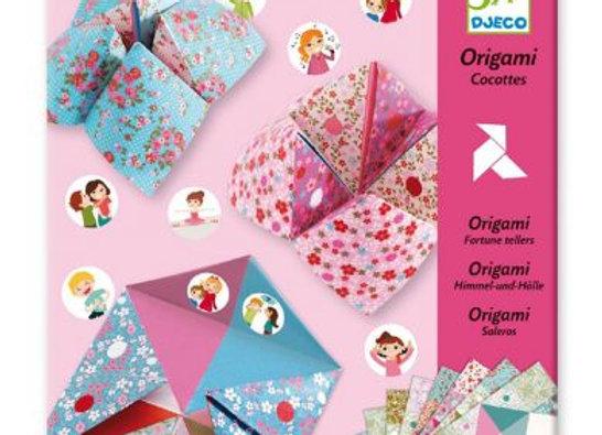 Origami Cocottes à gages fleurs - DJECO