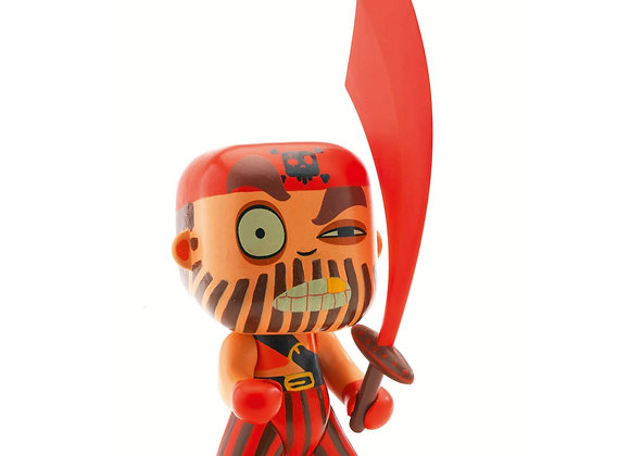 Figurine pirate Capitaine Red Arty Toys - DJECO
