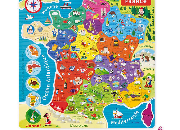 Puzzle  93 magnets France magnétique - JANOD