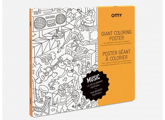 Poster à colorier Music grand format - OMY