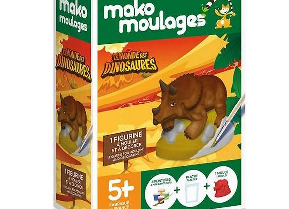 Tricératops Le Monde des Dinosaures - MAKO MOULAGES