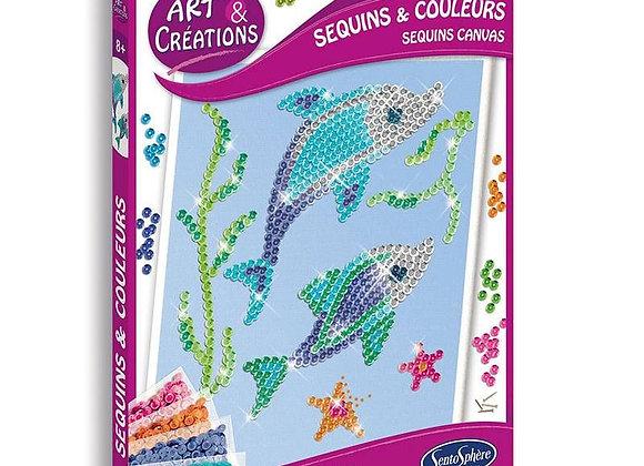 Arts et créations Sequins et couleurs Dauphins - SENTOSPHERE