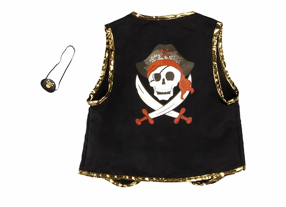 Veste de pirate et cache oeil 4/7 ans - GREAT PRENTENDERS
