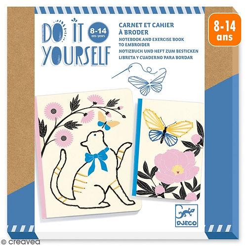 Carnet et cahier à broder Jardin Poétique Do it yourself - DJECO