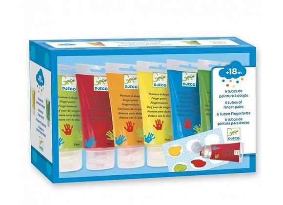 6 tubes de peinture à doigts - DJECO