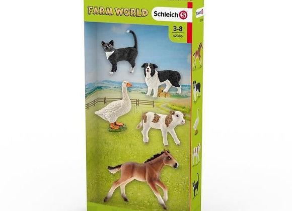 Figurines assortiment d'animaux Farm World - SCHLEICH
