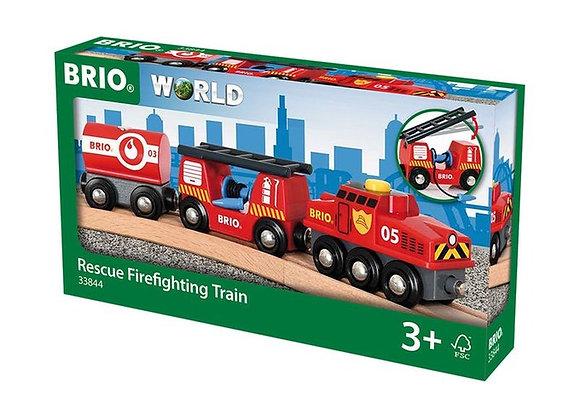 Train Secours Pompier - BRIO