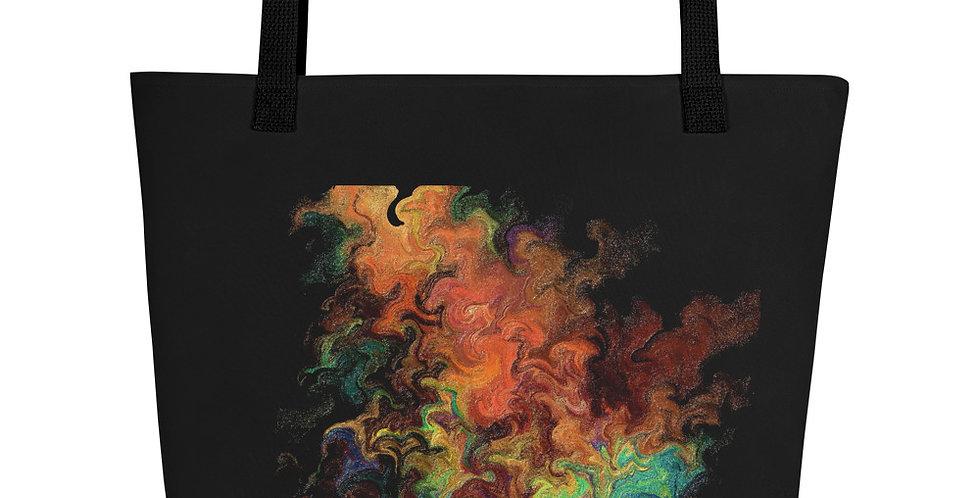 """Abstract Flame"" Tote Bag"
