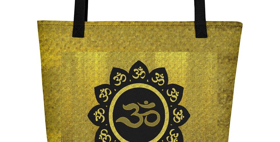 """Lotus Om (Gilded)"" Tote Bag"