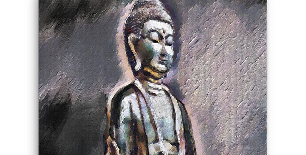 """Buddha (Shadows)"" Canvas Print"