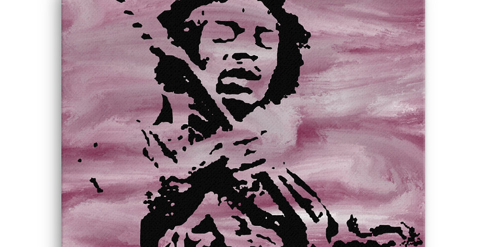 """Jimi (Purple Haze)"" Canvas Print"